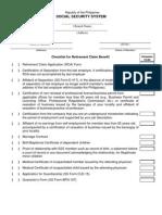 Retirement Claim Checklist