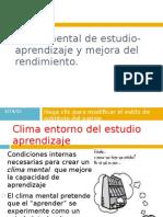 Clima Mental de Estudio-Aprendizaje y Mejora Del Rendimiento