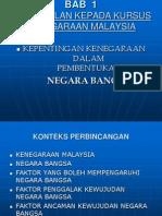(1) Pen Gen Alan Kepada Kenegaraan Malaysia