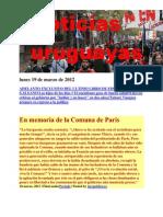 Noticias Uruguayas Lunes 19 de Marzo de 2012
