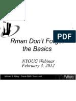 2012 02 03 UKOUG Rman Best Practices