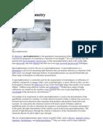 Spectrophotometry WIKI