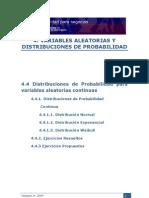 ESTADÍSTICA 4 VARIABLES ALEATORIAS Y DISTRIBUCIONES DE PROBABILIDAD