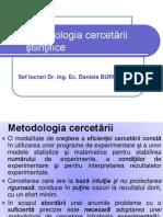 Curs Metodologia Cercetarii Stiintifice 2011-2012