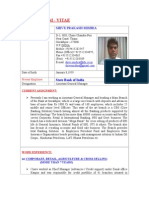 CV OF S P MISHRA