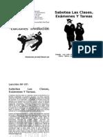 Manual de sabotaje escolar (portada)