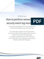 How to Perform Network-wide Security Event Log Management
