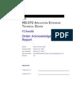 FLS BOISE MD070 Order Acknowledgement 1.1