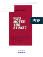 Who Moved the Stone by Ahmed Deedat