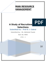 Hrm- Recuirtment and Selection