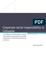 Corporate Social Responsibility in Lithuania