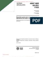 NBR ISO IEC 17025