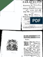Paracelsus-Aurora and Treasure of the Philosophers 1659