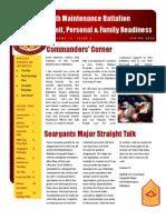4th Maint Bn Newsletter - Spring 2012