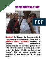 20012 DOSSIER PRENSA XII EDICIÓN SEMANA SANTA VIVIENTE CUEVAS DEL CAMPO