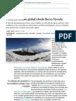 Dossier de Prensa Jornadas de Investigación del Parque Nacional y Parque Natural de Sierra Nevada