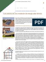 Guía práctica de una instalación de energía solar térmica