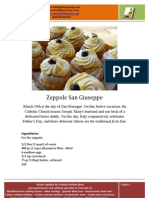 Father's Day Special Dessert Zeppole Di San Giuseppe