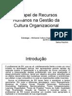 AULA 5 - O Papel de Recursos Humanos Na Gestão Da Cultura