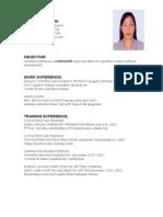 Resume for Caregiver