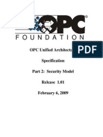 OPC UA Part 2 - Security Model 1.01 Specification