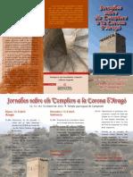 TRIPTIC Jornada sobre els templers a la corona d'Aragó