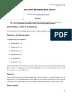 Instrucciones de Formato Para Autores