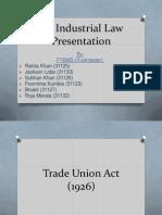 An Industrial Law Presentation