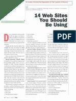 David J. Siegel - 14 Websites You Should Be Using