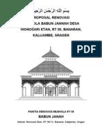 Proposal Renovasi Mushola Baabul Jannah