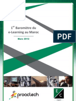 1er Baromètre du e-Learning au Maroc - Mars 2012