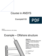 Ansys Example 0153 Offshore Structure