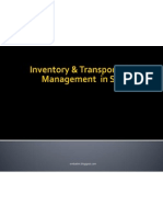 Inventory & Transportation Management