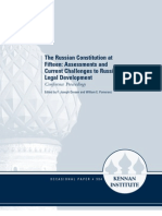 The Russian Constitution at Fifteen