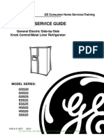 GE Steel Liner SxS Refrigerator Manual