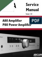 Arcam Diva A80 P80 Amp Sm