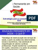 Politicas de Educacao Permanente Em SC - Flavio ski