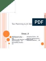 Tax Planning & JV Abroad
