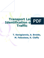 Transport Layer Identification of P2P Traffic