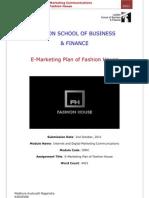 E Marketing Plan Of Fashion House