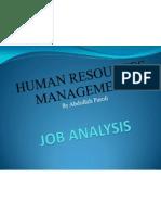 Job Analysis Slides Spring 2012