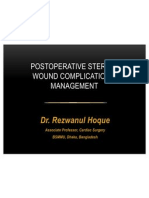 Postoperative Sternal Wound Complication & Management