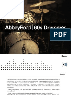Abbey Road 60s Drummer Manual English   Drum Kit   Microphone