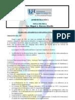 Nota técnica sobre Desarrollo Organizacional
