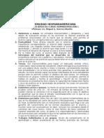 Criterios básicos del curso administración 1