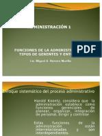 Tema 2. Funciones de la administración tipos de gerentes el entorno y Toma de Decisiones UHISPANOAMERICANA