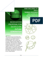 16A - Bio Dig Ester Proposal for Future Generations