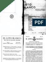 Loto Blanco Octubre 1931