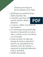 Consejos prácticos para lograr la disciplina de los alumnos en la clase