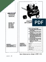 Craftsman 1 HP Compressor
